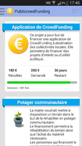Crowdfunding exemple app