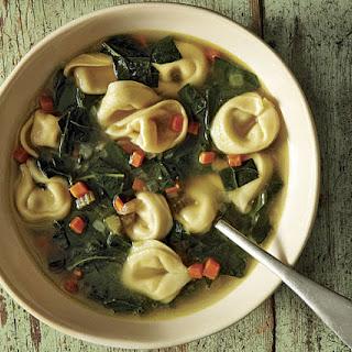 Broccoli Leaf Tortellini Soup