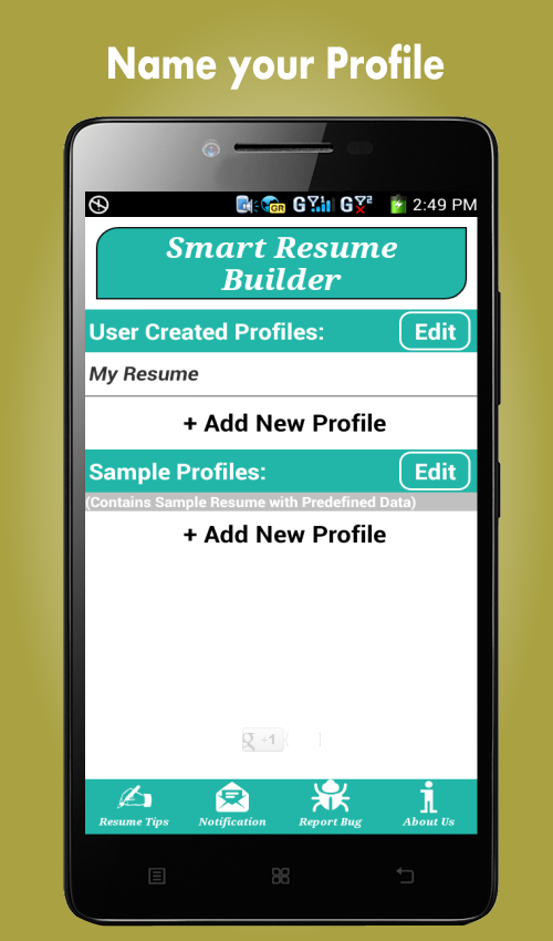 smart resume builder / cv free - android apps on google play - Free Resume Builder