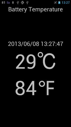 バッテリー温度計測(摂氏・華氏)