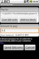 Screenshot of BitcoinSpinner
