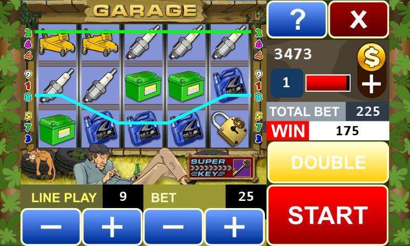 Garage slot machine - screenshot
