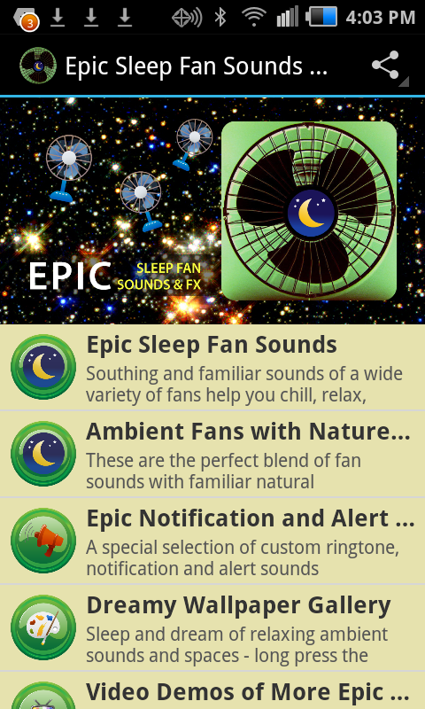 Epic Sleep Fan Sounds and FX - screenshot