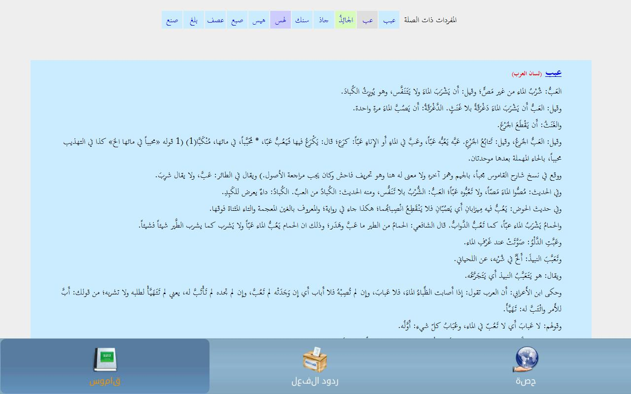 Arabic Dictionary- screenshot