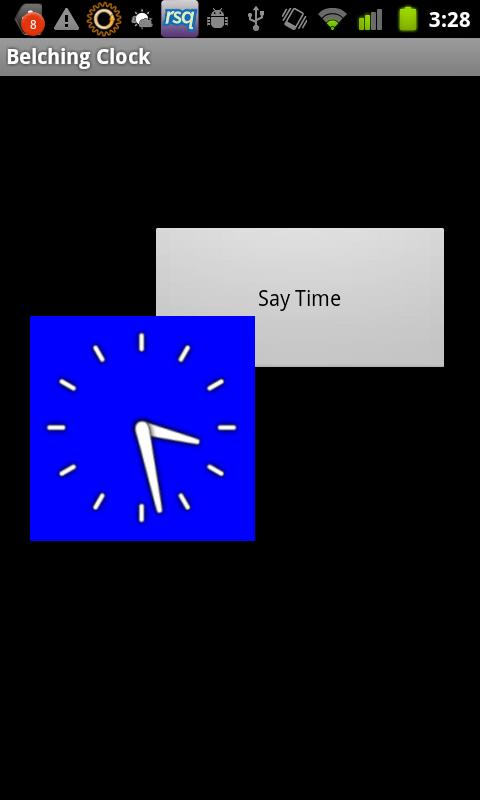 Classic Sharp Talking Clock - screenshot