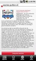 Screenshot of Voorne-Putten.nl Nieuwsapp