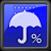 降水確率ステータスバー - シンプルな天気予報