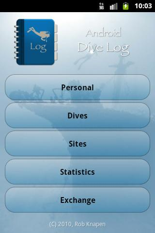 Dive Log Key - screenshot