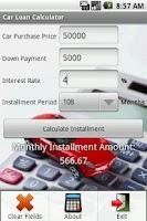 Screenshot of Car Loan Calculator