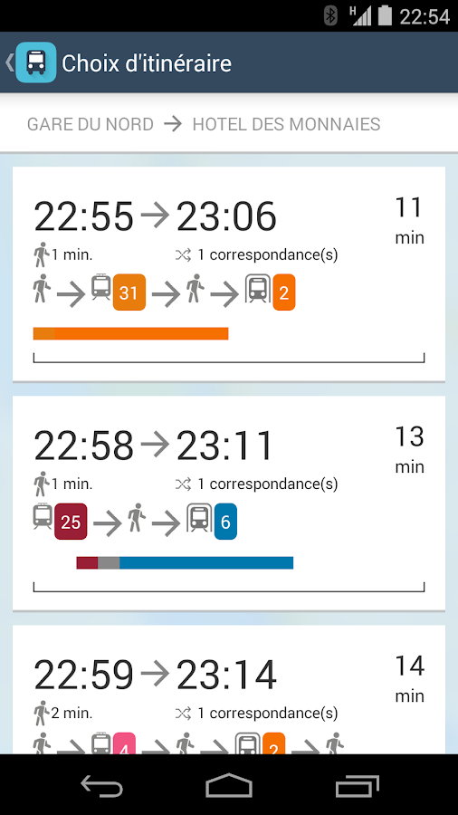 NextRide for STIB/MIVB and TEC - screenshot