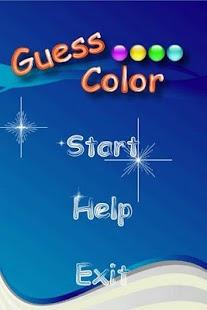 Guess Color - screenshot thumbnail