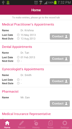 Women's Health Appointments