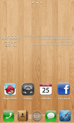 iPhoneS theme GO Lacuncher EX v1.0