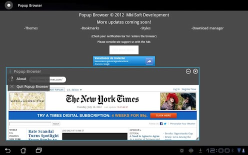 Popup Browser BETA - screenshot thumbnail