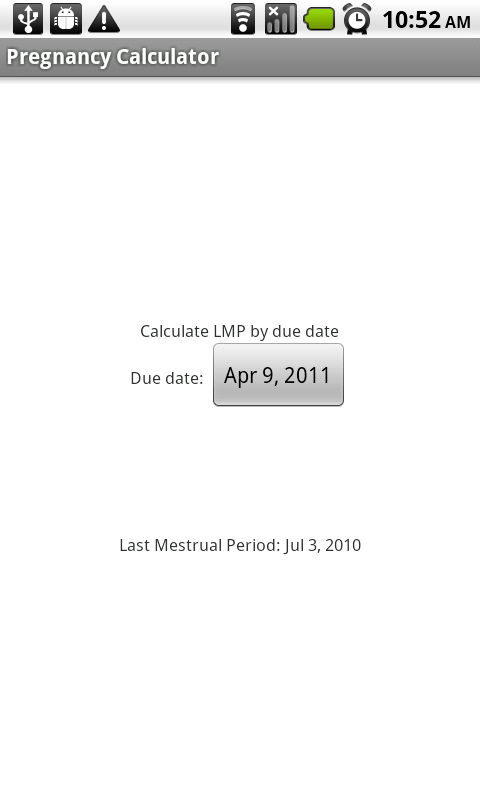 gestational week calculator by due date