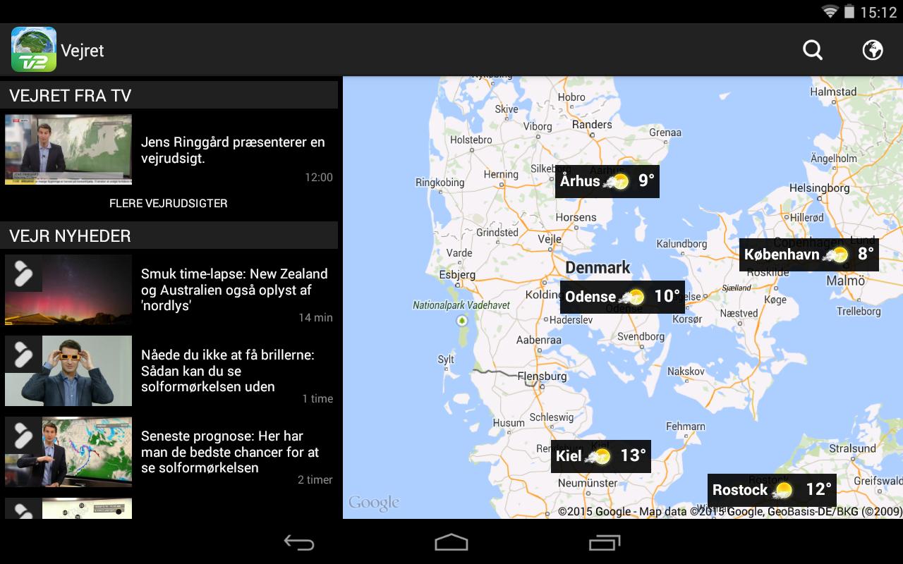 TV 2 Vejret - screenshot