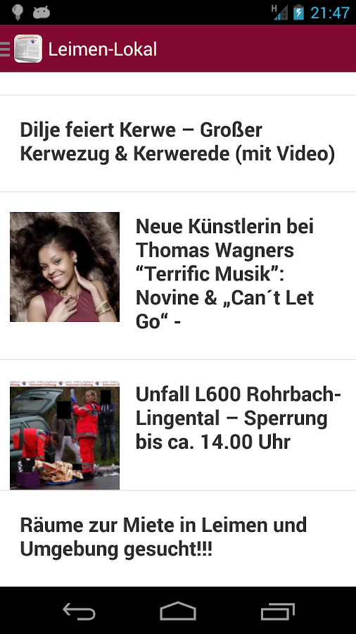 Internetzeitung Leimen-Lokal – Screenshot
