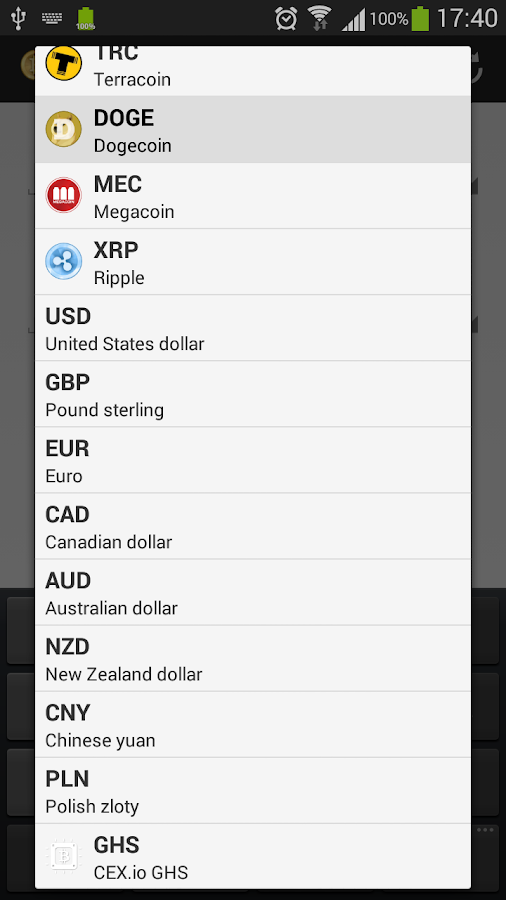 Crypto Converter- screenshot