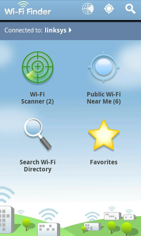 WiFi Finder: captura de pantalla
