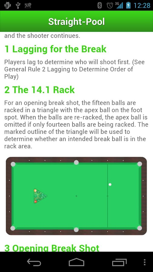 Billiard Rules- screenshot