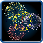 Fireworks With Analog Clock