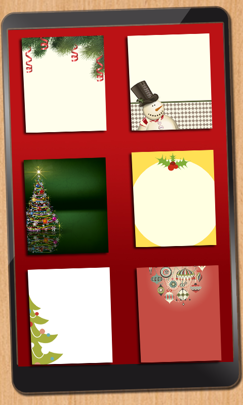 Create personalized Christmas Cards- screenshot