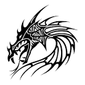 Tribal sticker icon