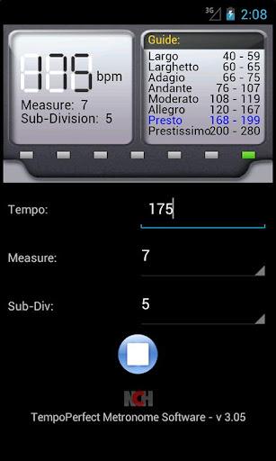 TempoPerfect Metronome Free 4.09 screenshots 2