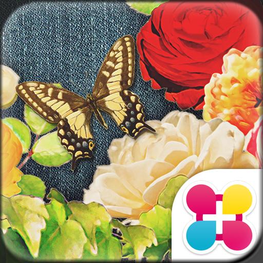 Cute Theme-Denim Floral- Icon