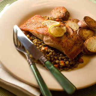 Gluten Free Salmon & Lentils.