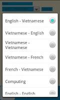 Screenshot of Vietnamese Dictionary Free