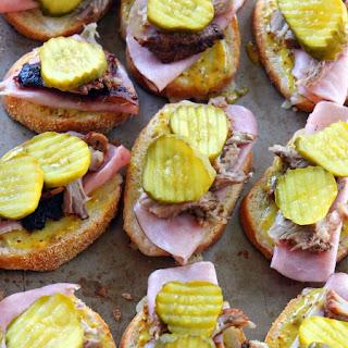 Cuban Sandwich Crostini for #SundaySupper