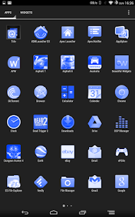 White and Blue Launcher Theme - screenshot thumbnail