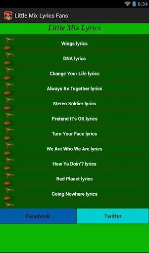 玩音樂App Little Mix Lyrics Fans免費 APP試玩