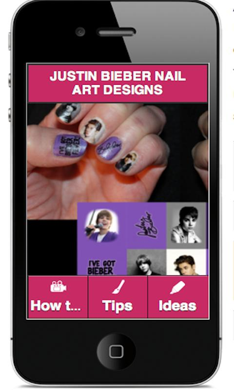 JUSTIN BIEBER NAIL ART - screenshot