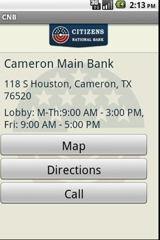 CITIZENS NATIONAL BANK TEXAS - screenshot