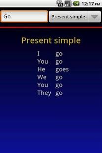 Verbuga English Verb Trainer - screenshot thumbnail
