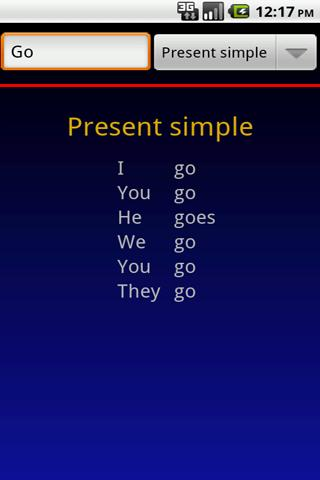 Verbuga English Verb Trainer - screenshot