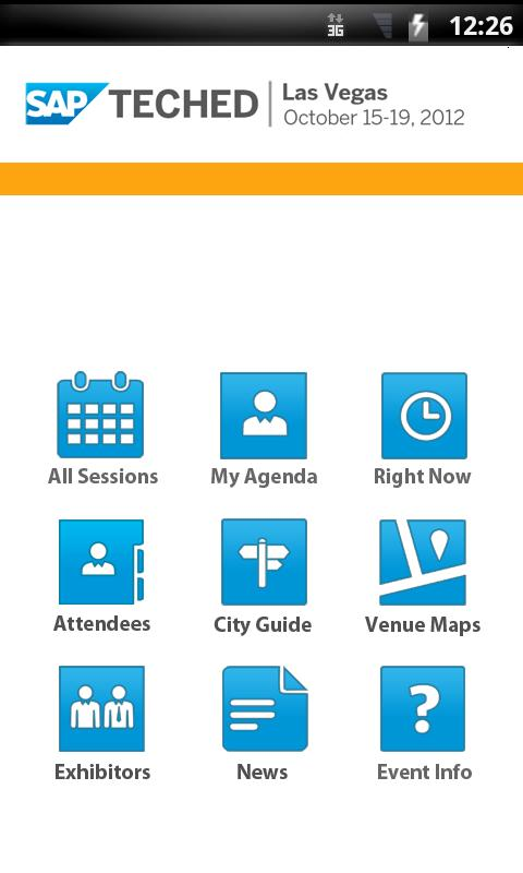 SAP TechEd 2012 Las Vegas - screenshot