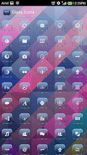 GLASS  ICONS APEX/NOVA/GO/ADW- screenshot thumbnail