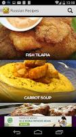Screenshot of Russian Recipes Cookbook