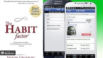 Screenshot of The Habit Factor® Goals,Habits