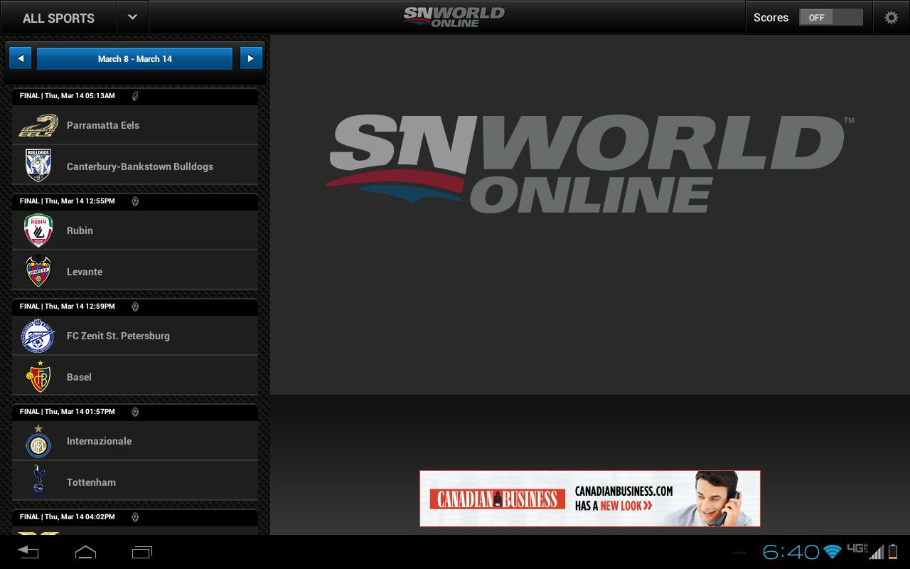Sportsnet World- screenshot