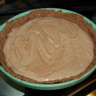 Aunt Da's French Silk Chocolate Pie.