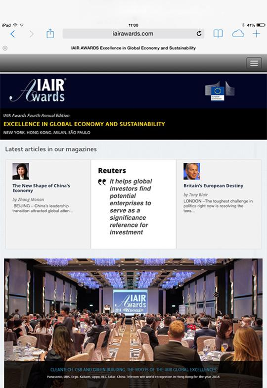 IAIR Awards- screenshot