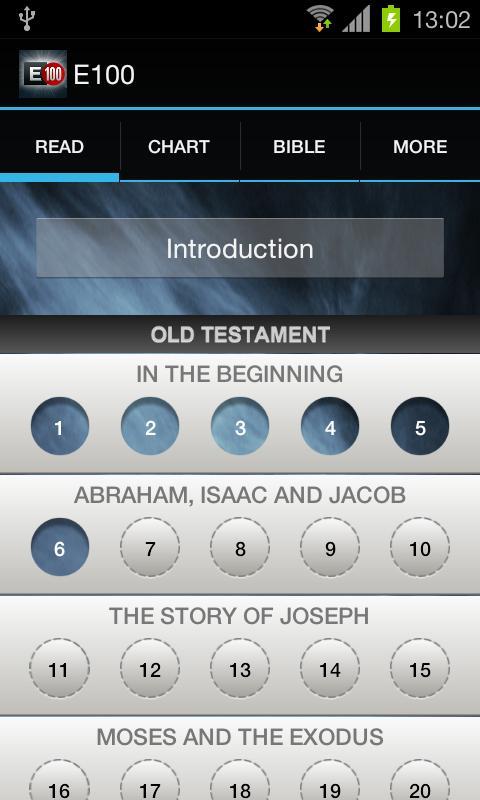 e100 Bible Reading Challenge- screenshot