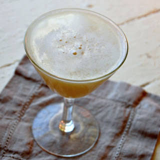Fresh Apple-Ginger Whiskey Sour.