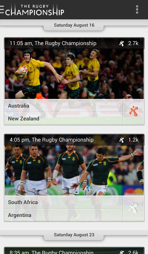 The Rugby Championship - screenshot