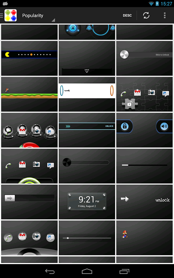 WidgetLocker Theme Viewer - screenshot