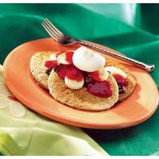 Banana Split Oat Bran Pancakes.